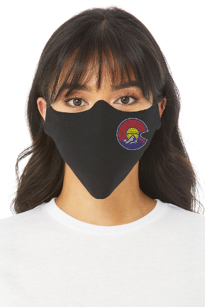 STATE PRIDE BLING LOGO FACE MASK