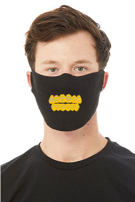 GOLD BLING GRILL FACE MASK