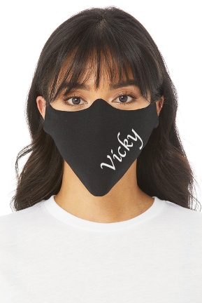 PERSONALIZED HOLFOIL BLING LOGO FACE MASK